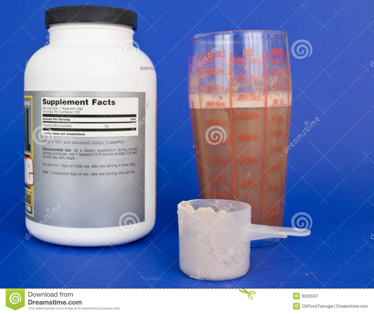 Protein Shaker Near Me: Creatine Shake And Scoop Stock Image. Image Of Drink, Side