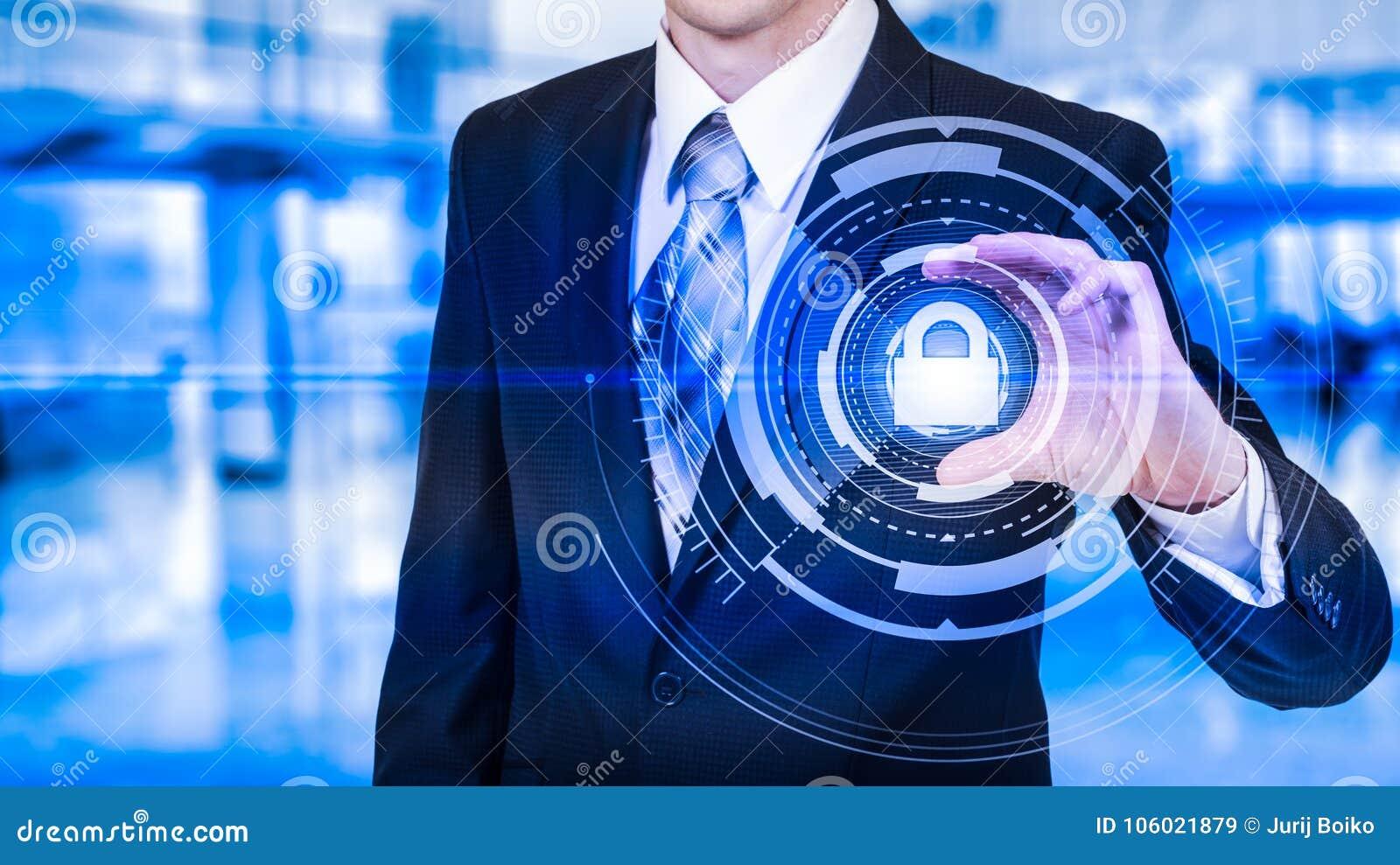 Proteja el concepto de los datos de la información de la nube Seguridad y seguridad de los datos de la nube