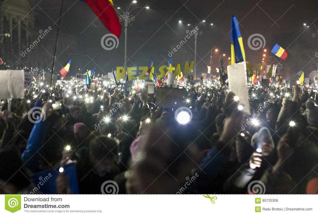 Protest against corruption reforms in Bucharest