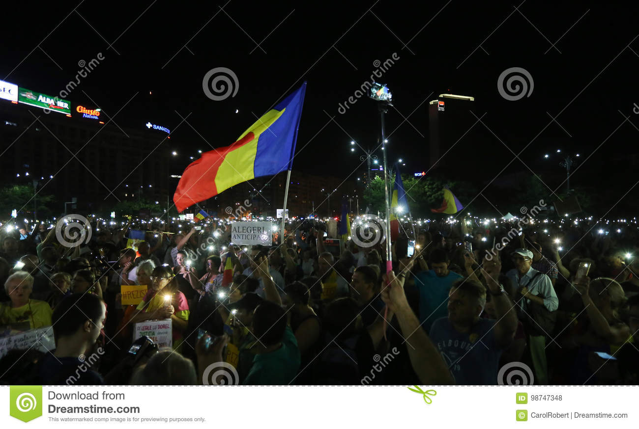 Protest in Bucharest
