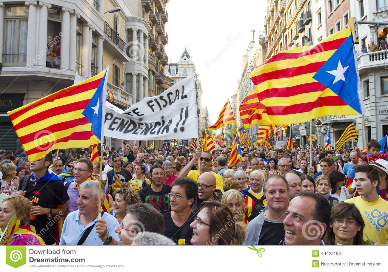 Protest For Catalonia Independence Editorial Stock Photo ...