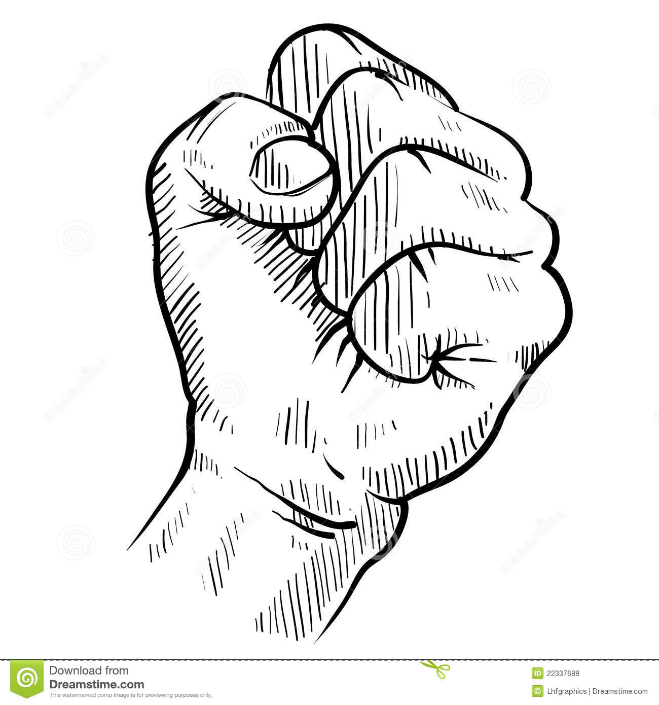 Protest Fist Sketch Royalty Free Stock Photos Image