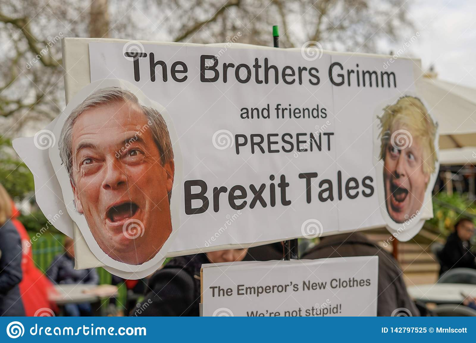 Protest Londons England - Londons Brexit