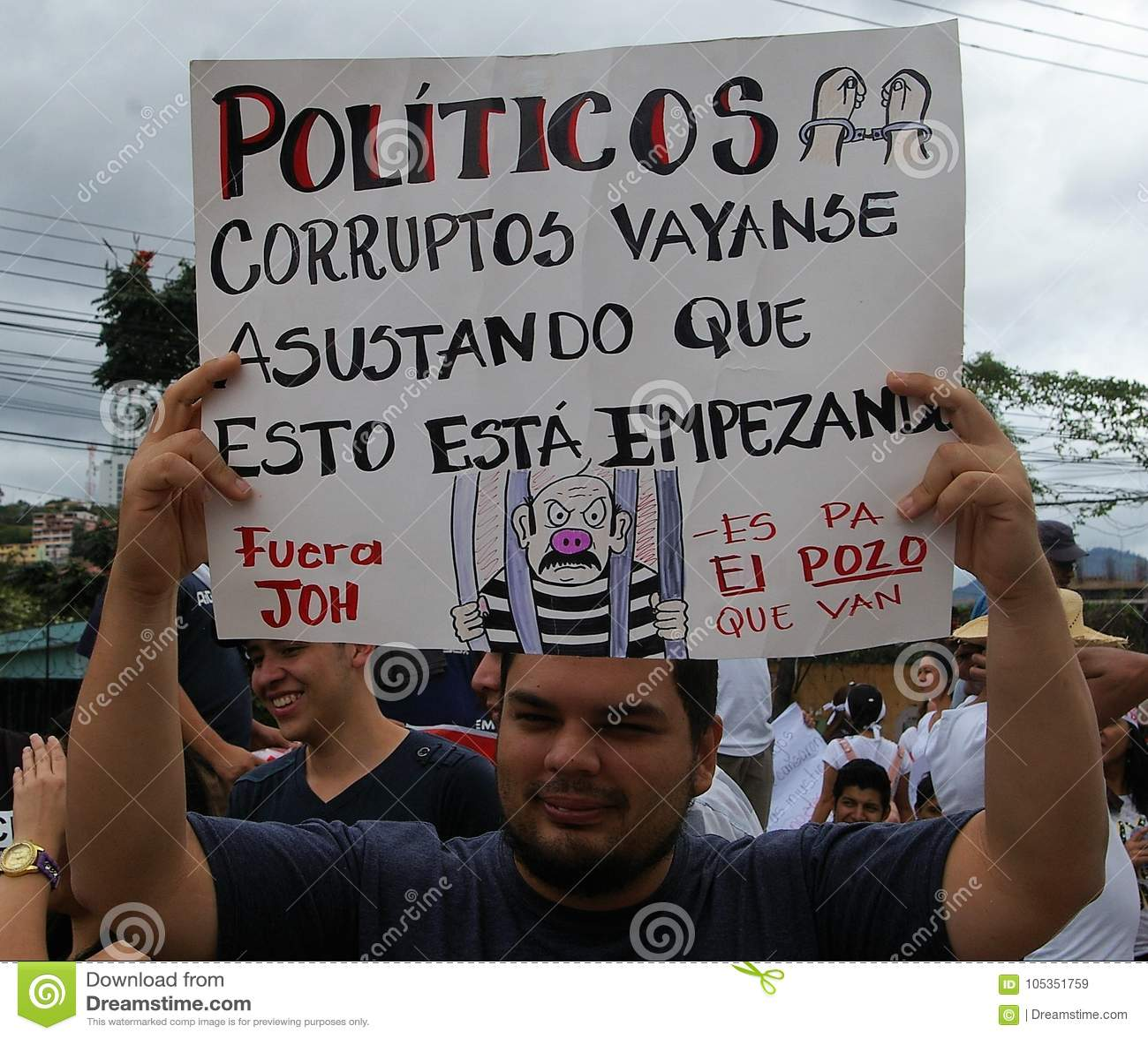 Protest maart tegen corruptie en herverkiezing van Juan Orlando Hernandez