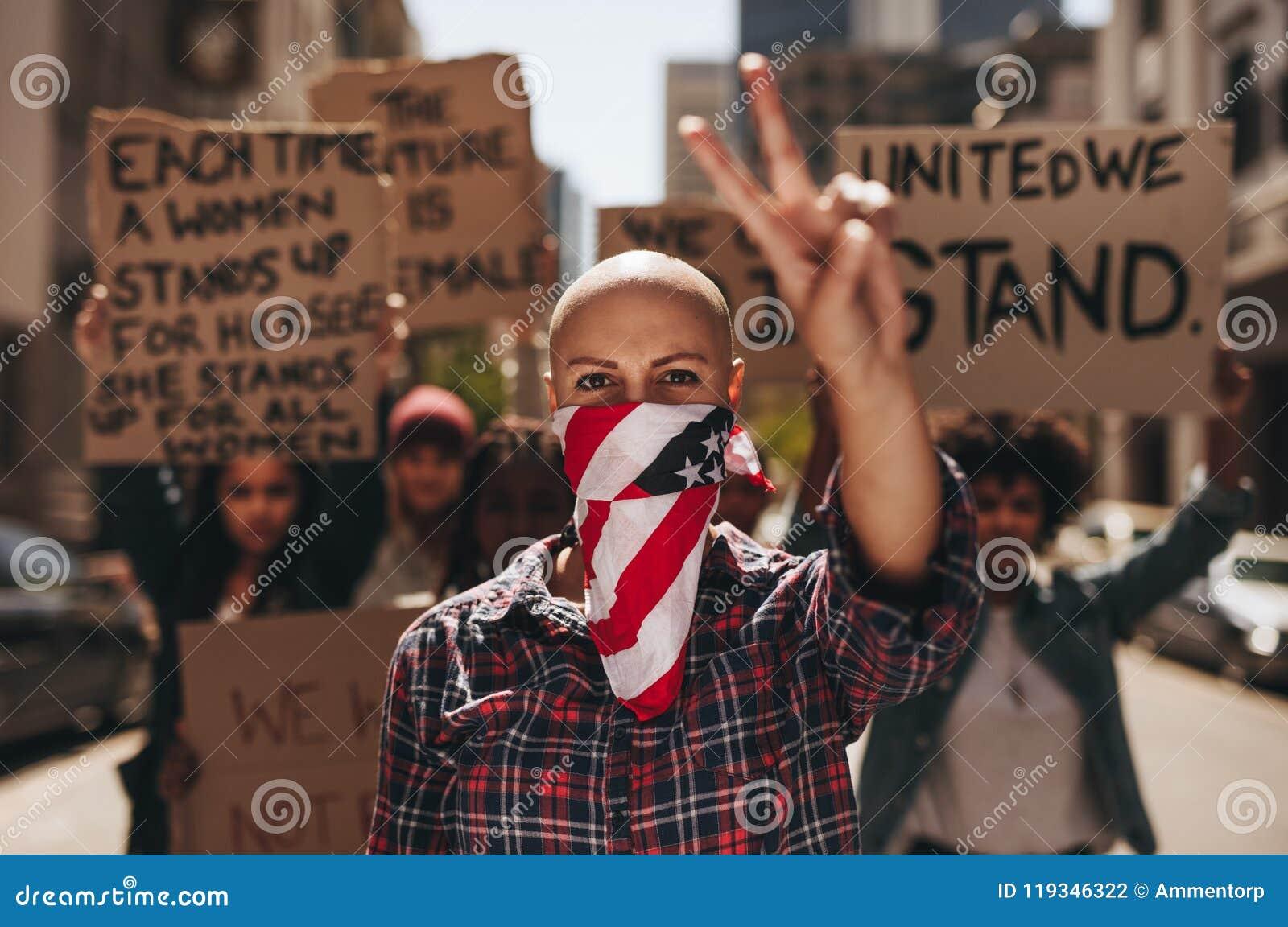 Protest mit Frieden und Ruhe
