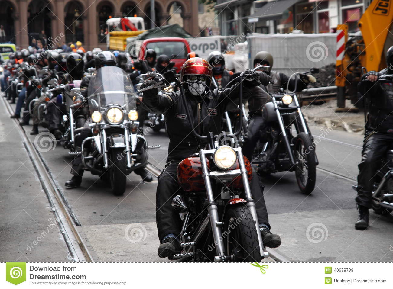 Protest Of Motorcycle Clubs  Oslo  Editorial Stock Photo - Image of