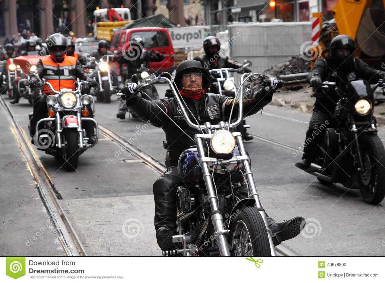 Protest Of Motorcycle Clubs Oslo Editorial Image Image