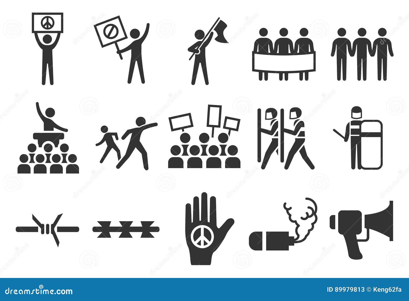 Protest- och tumultsymboler