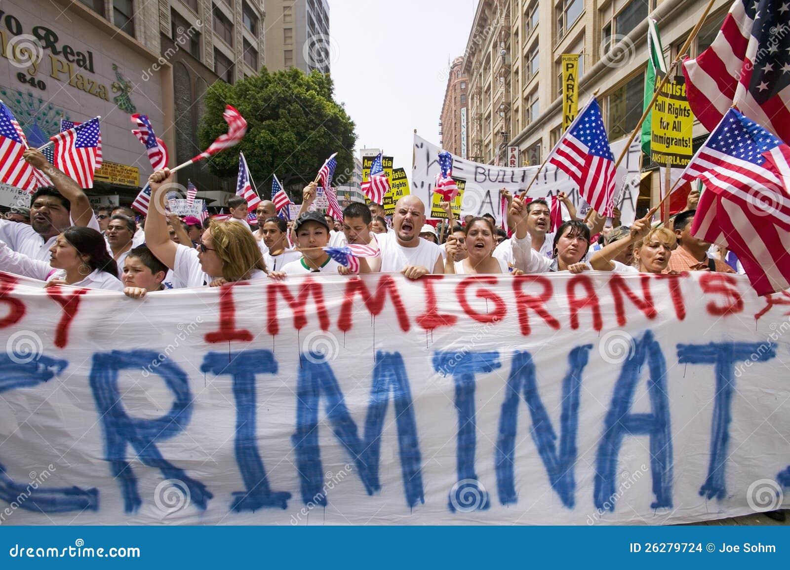 Protest tegen Onwettige Immigratie
