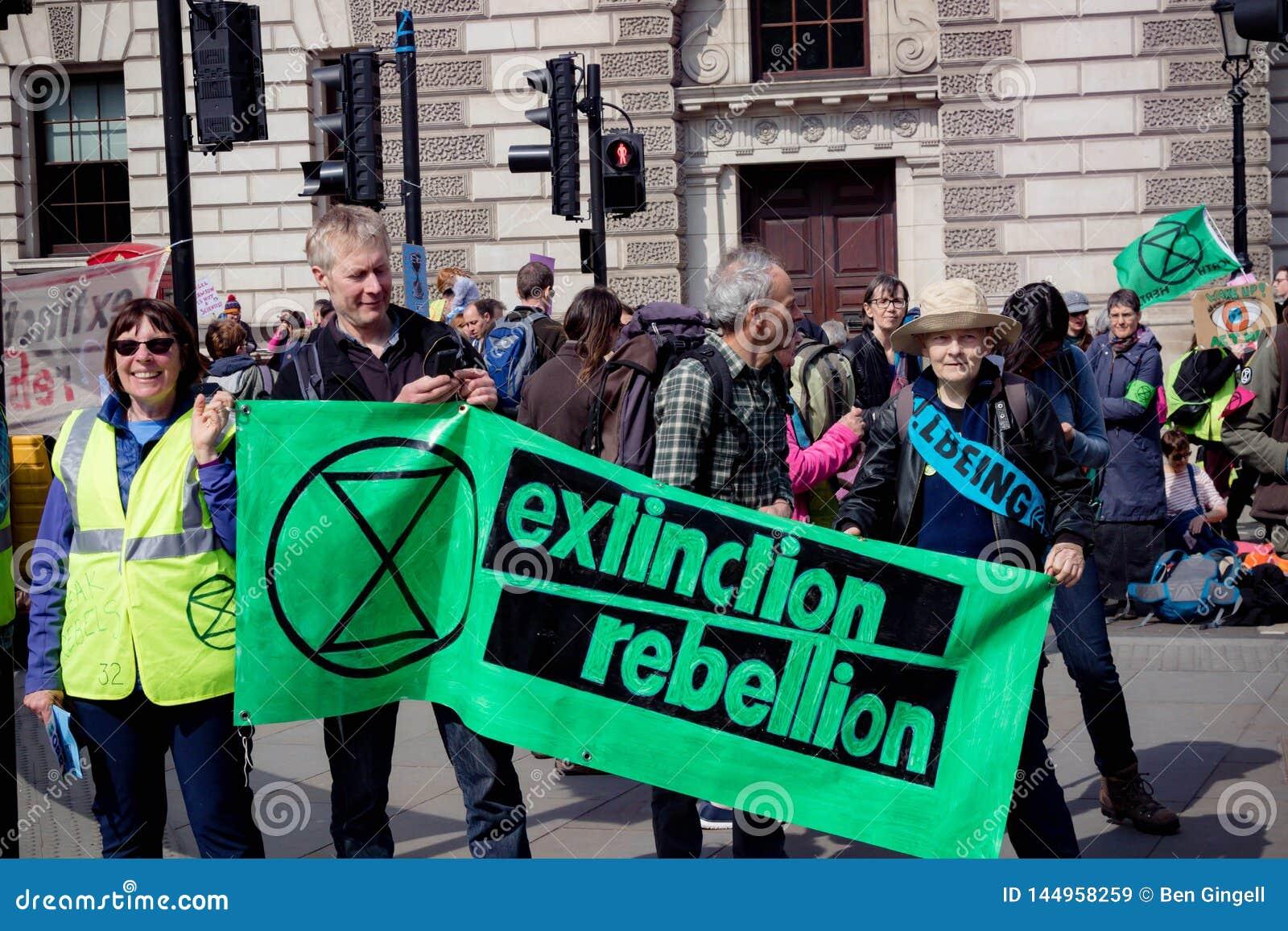 Protesta de la rebelión de Exctintion en Londres central