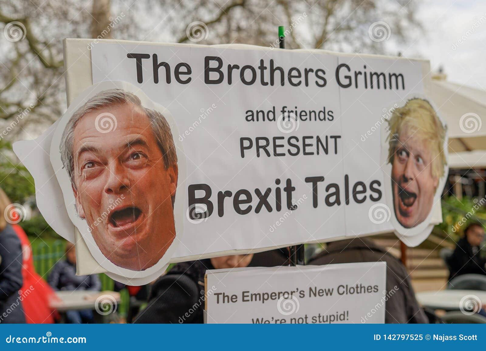 Protesta de Londres Inglaterra - de Londres Brexit