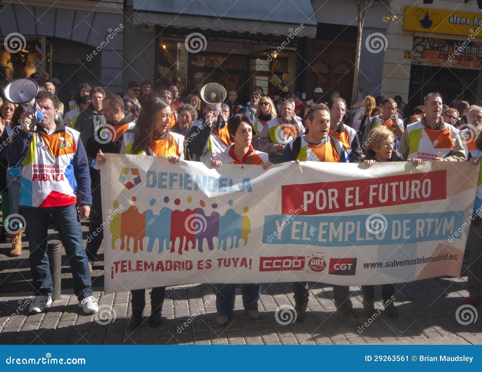 Protesta económica en Madrid, España