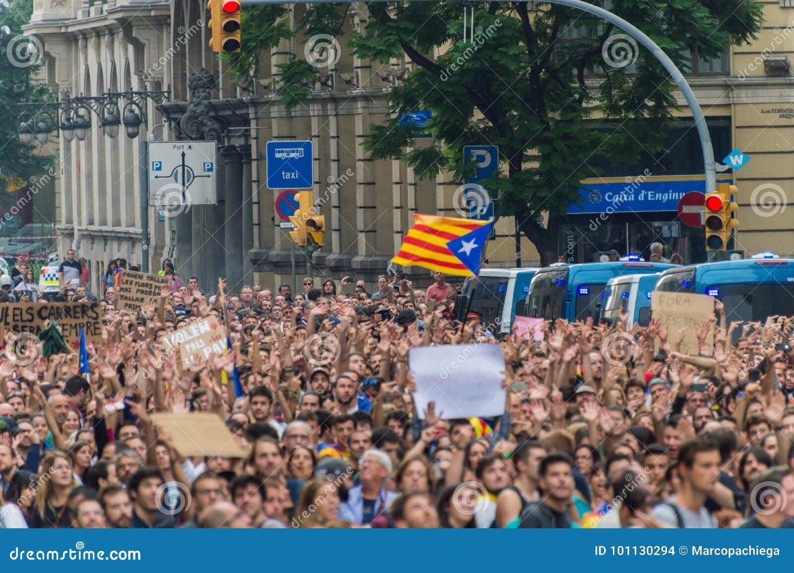Protesta pacifica, Barcellona