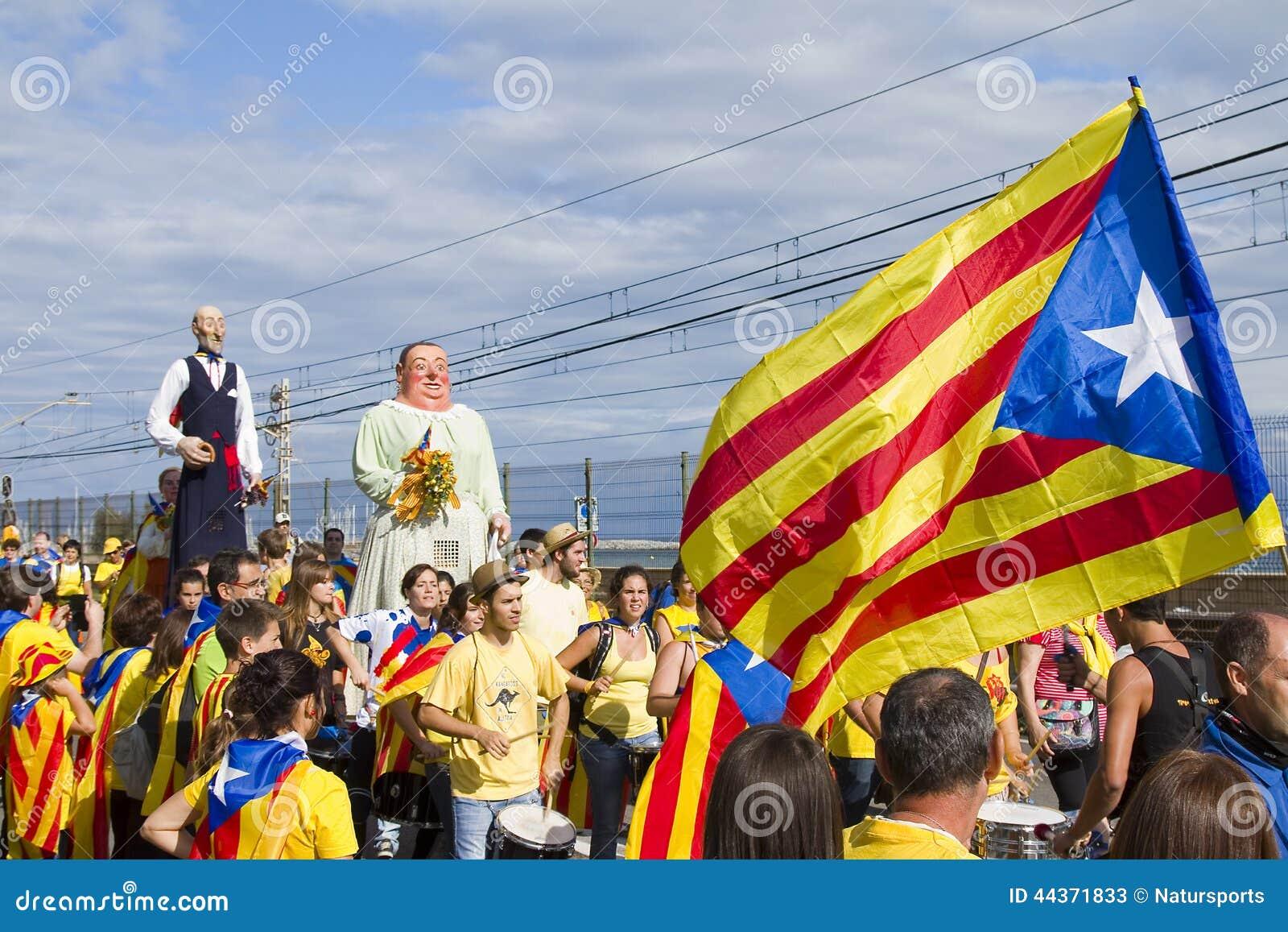 Protesta per indipendenza della Catalogna