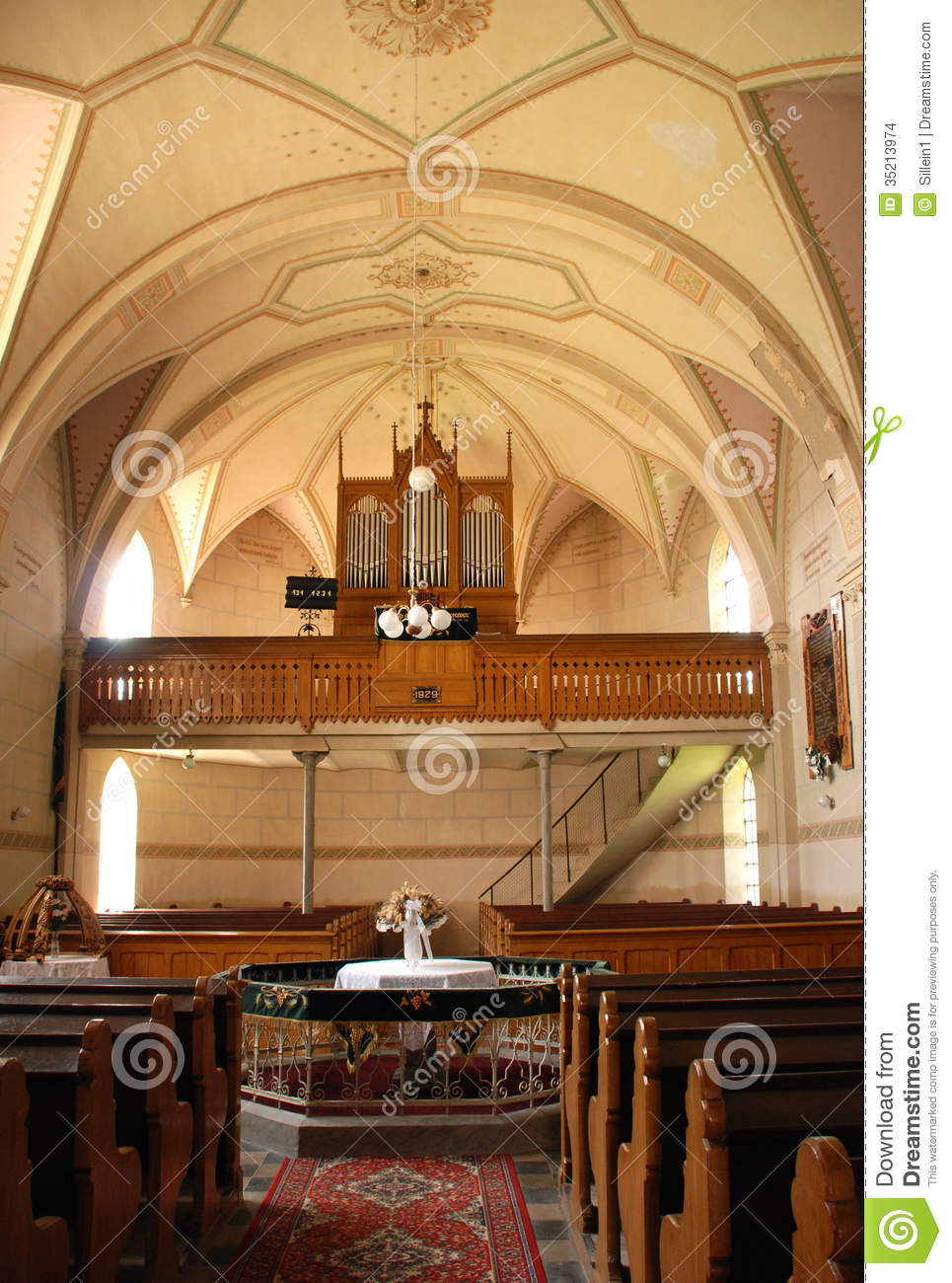 Protestant Church Stock Photo Image Of Columns
