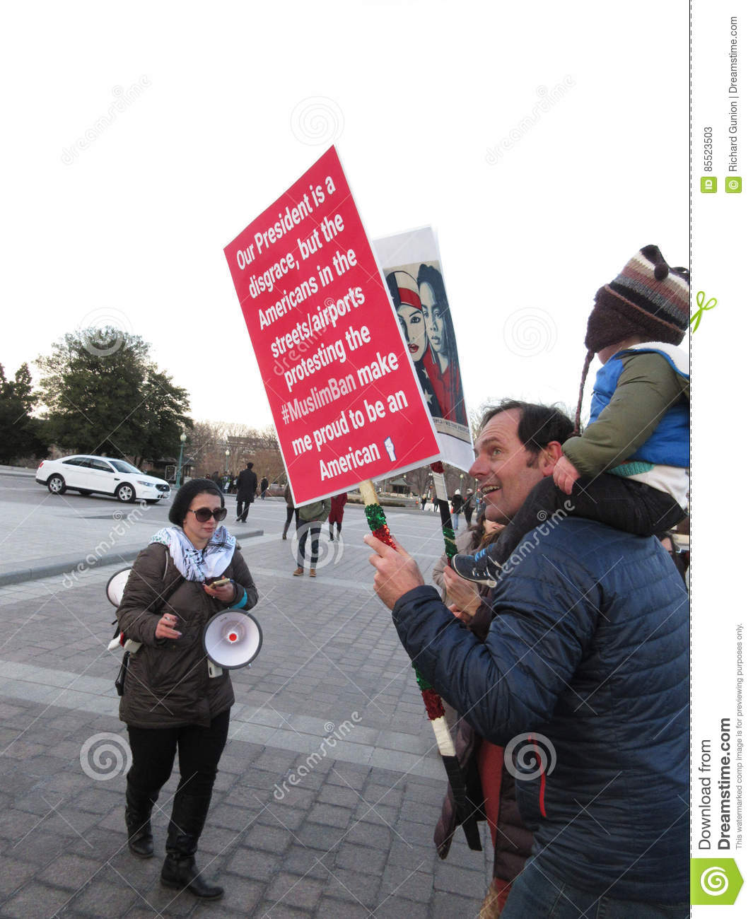 Protestataire fier