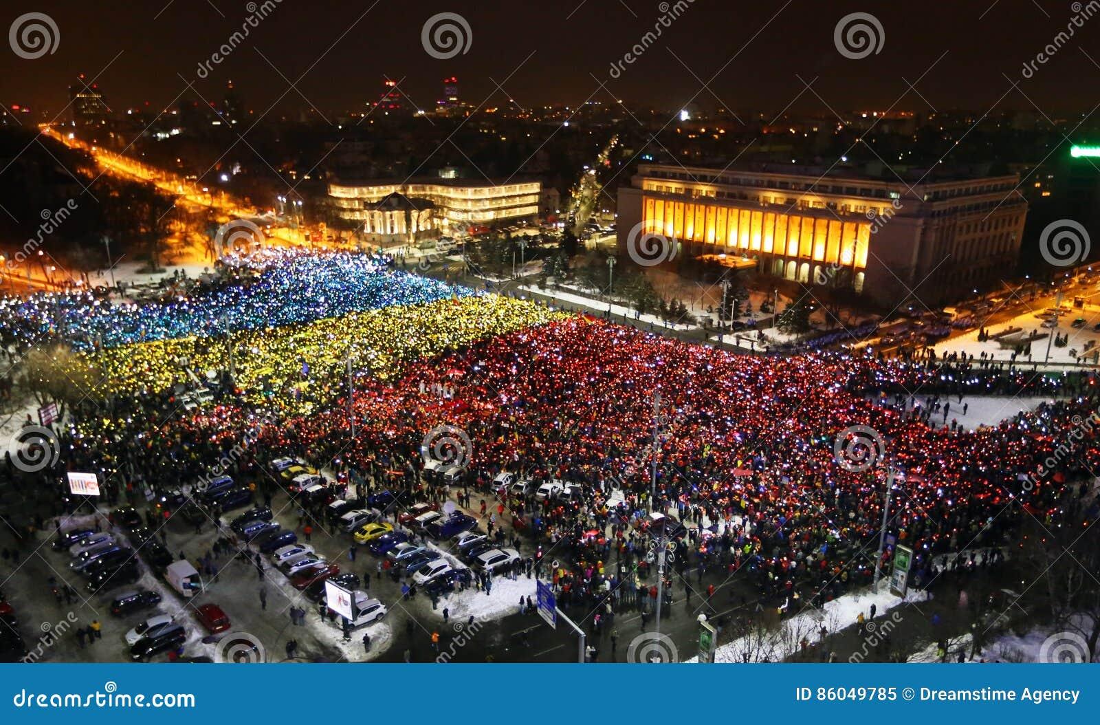 Protestation à Bucarest, Roumanie