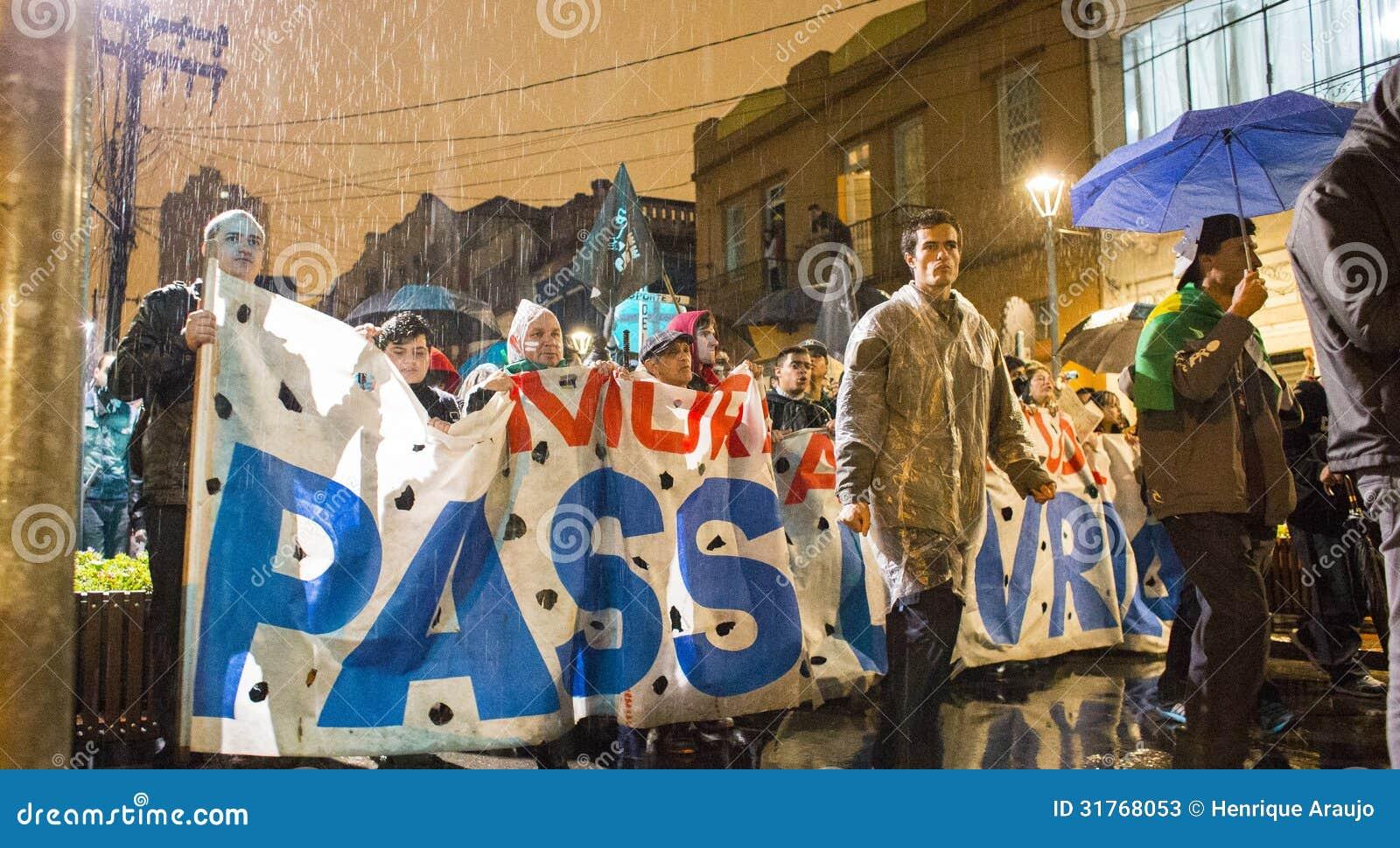 Protestation au Brésil