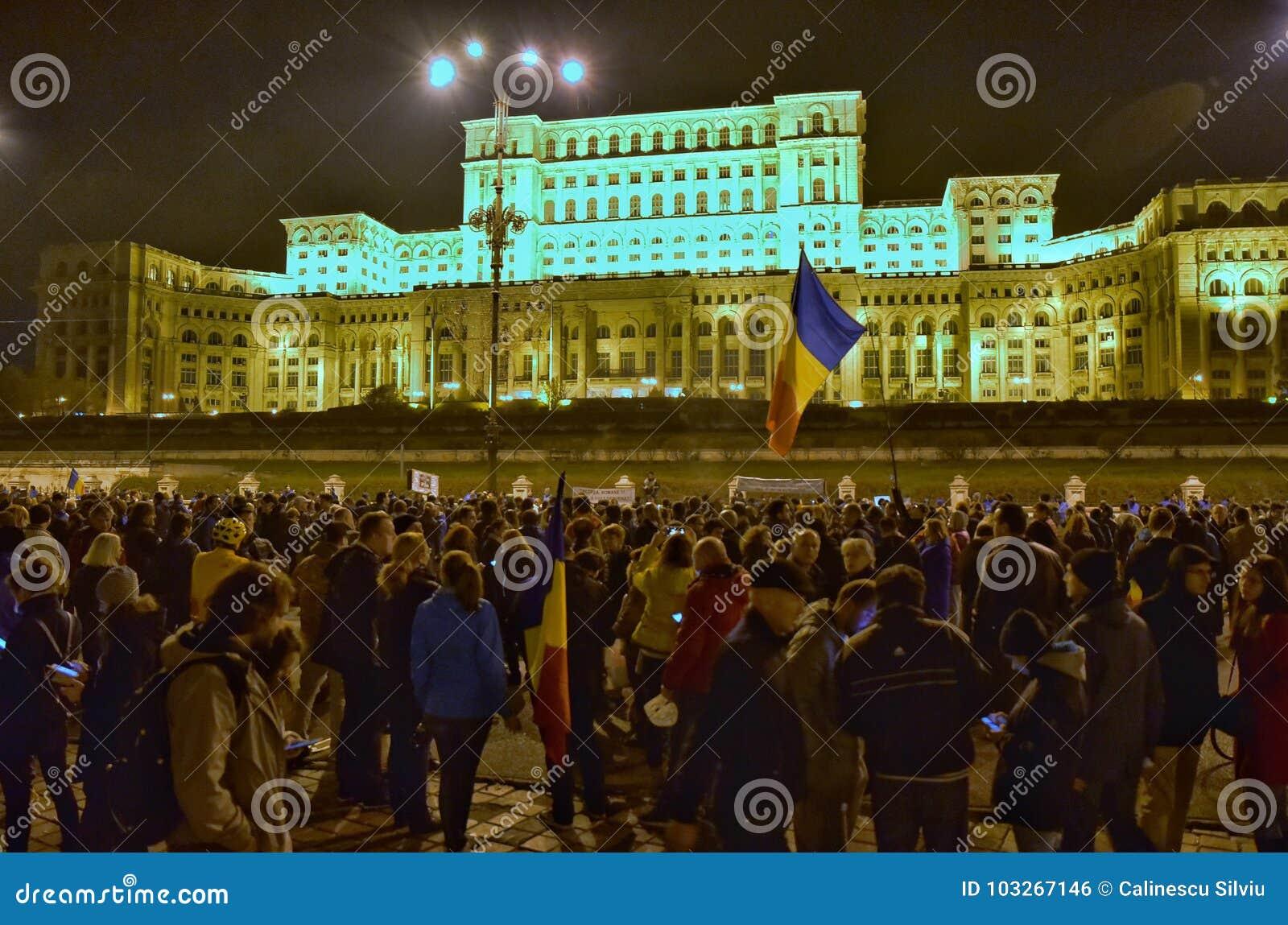 Protestation de Bucarest, modifiant les lois de la justice