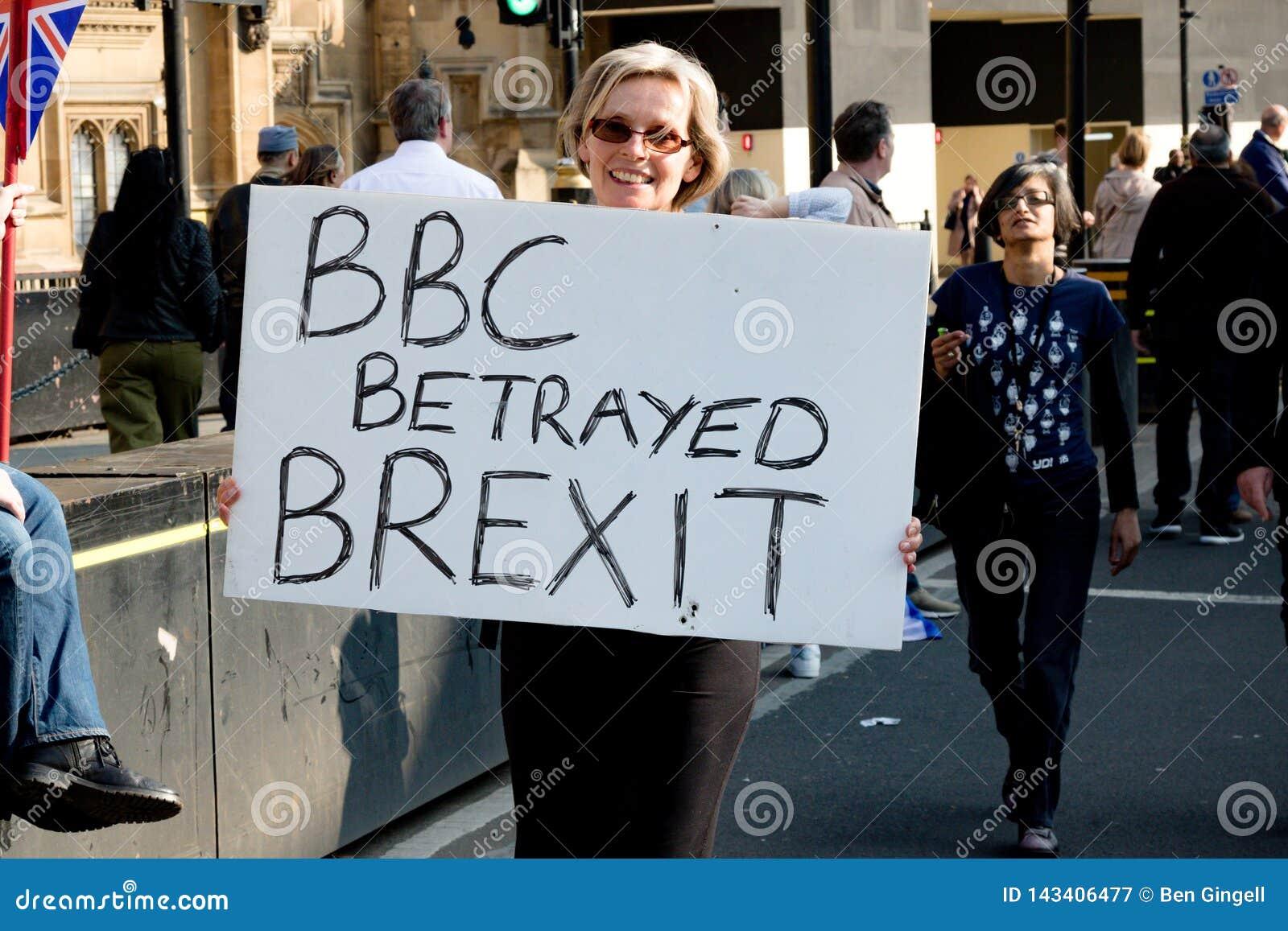 Protestation de jour de Brexit à Londres