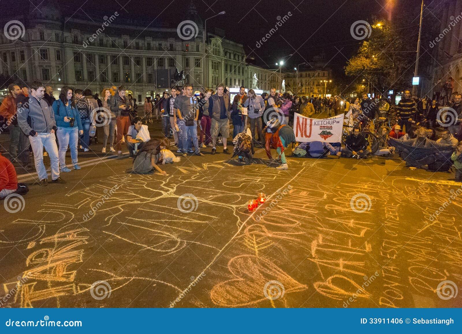 Protestations contre l extraction d or de cyanure chez Rosia Montana