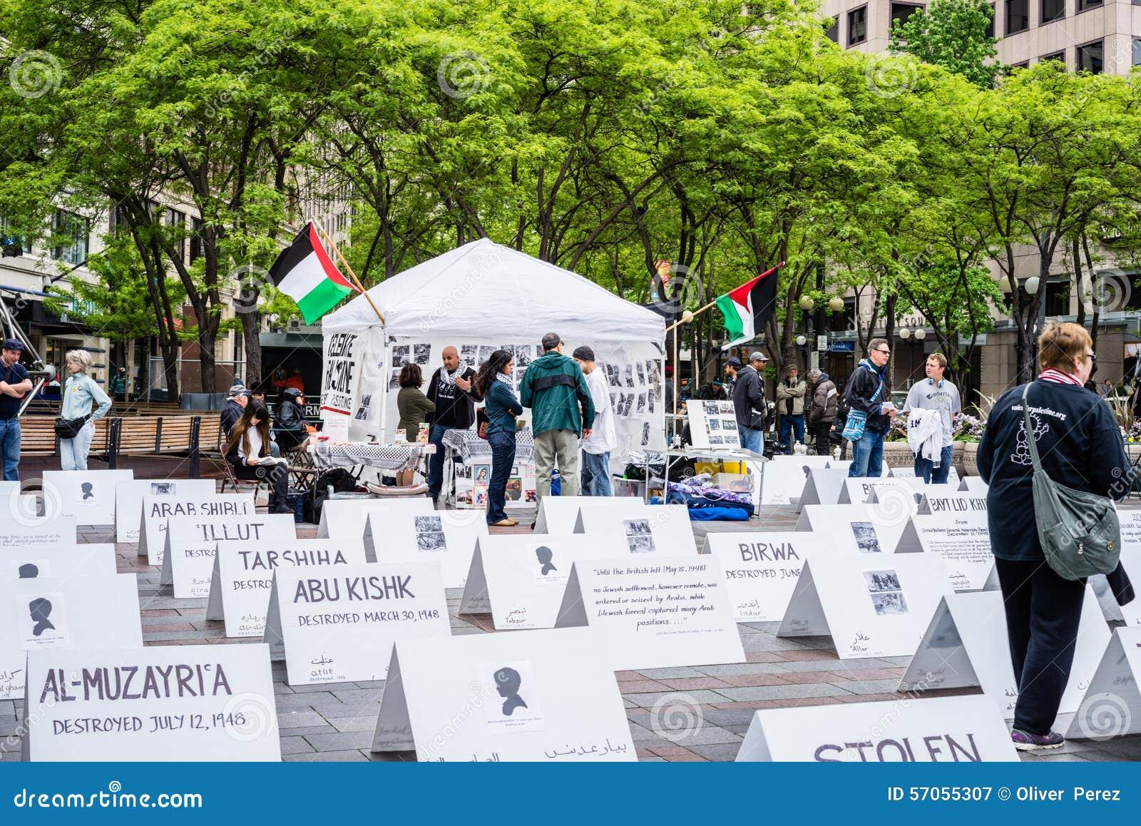 Protesteerders ondersteunend Palestina
