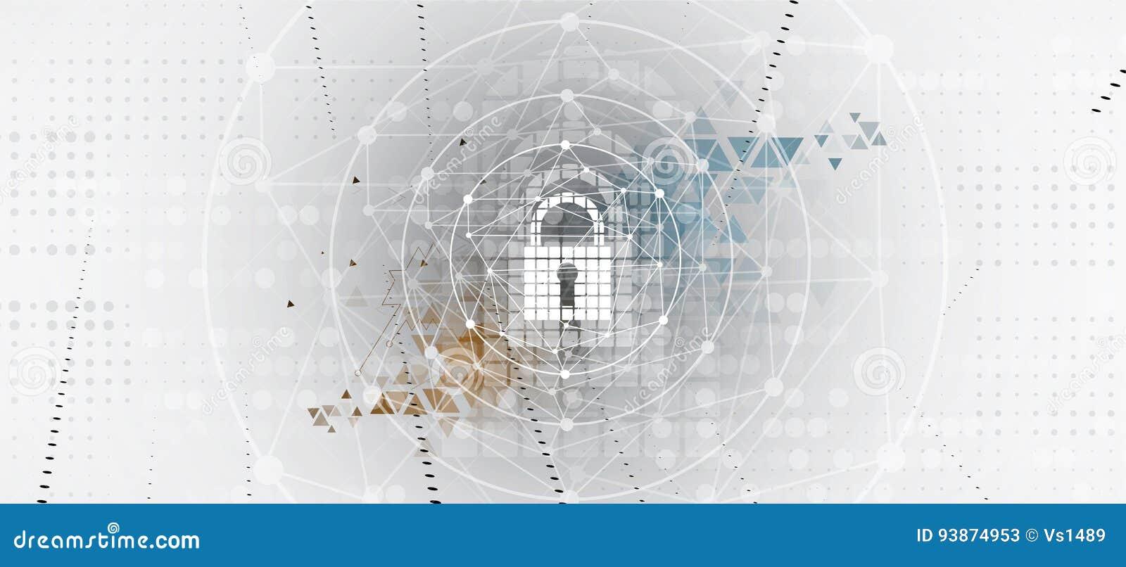 Protezione cyber di sicurezza e di informazioni o della rete Futuro tecnico
