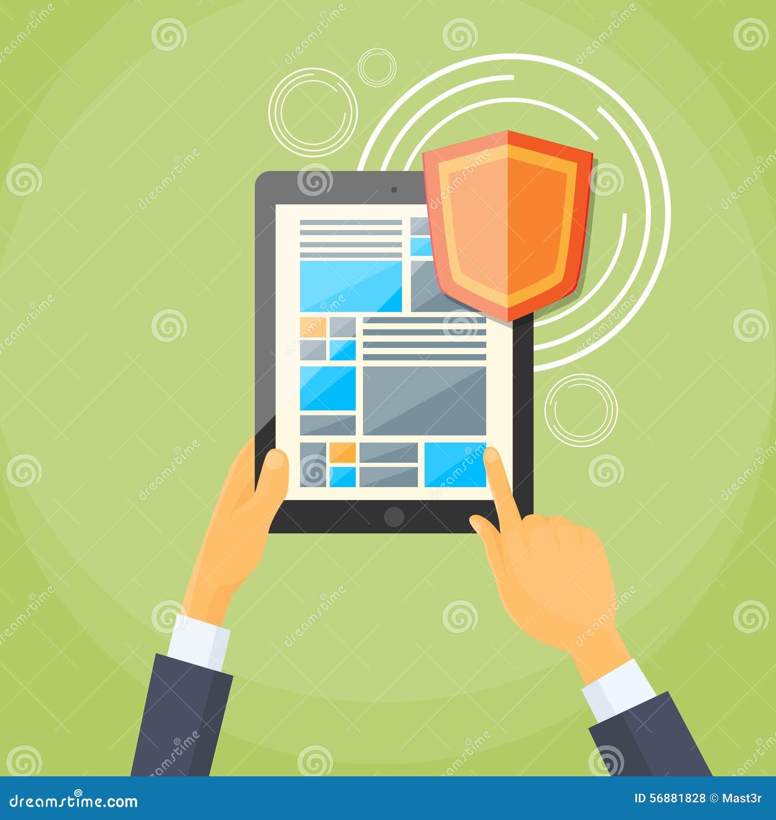 Protezione dei dati personali dello schermo della serratura dello schermo della compressa