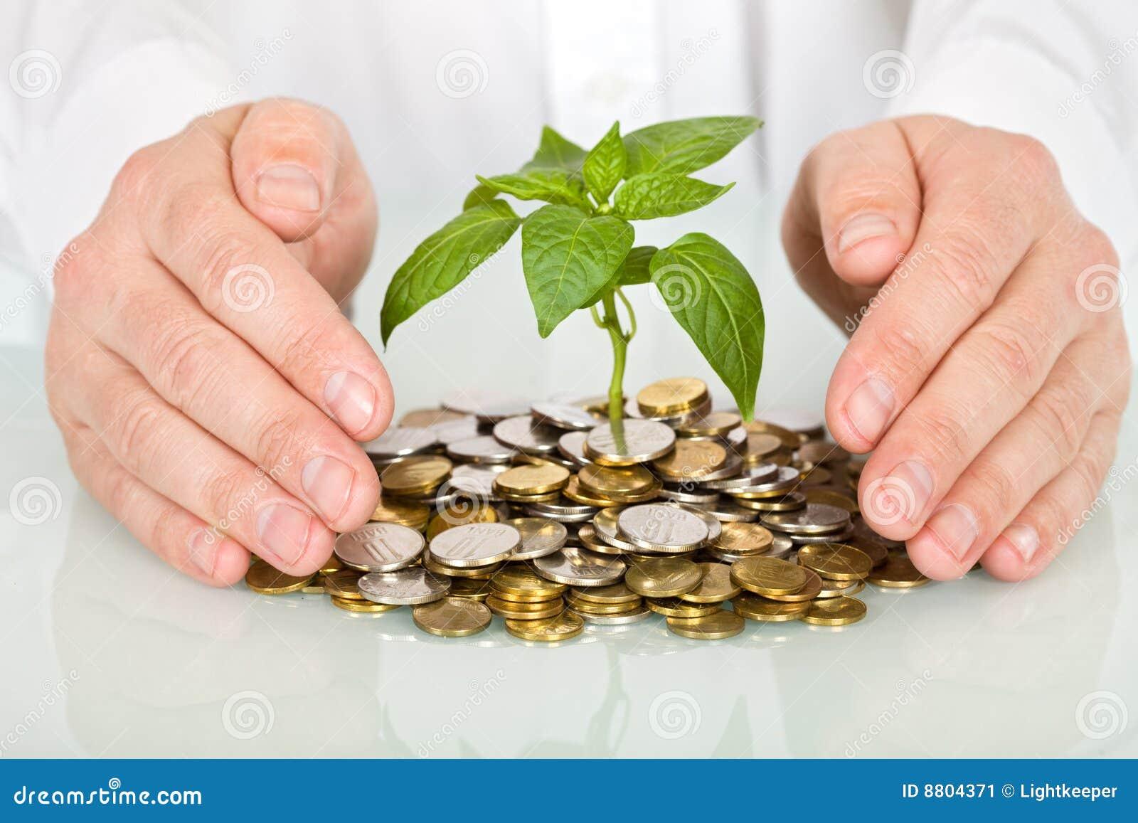 Protezione un investimento e del concetto dei soldi