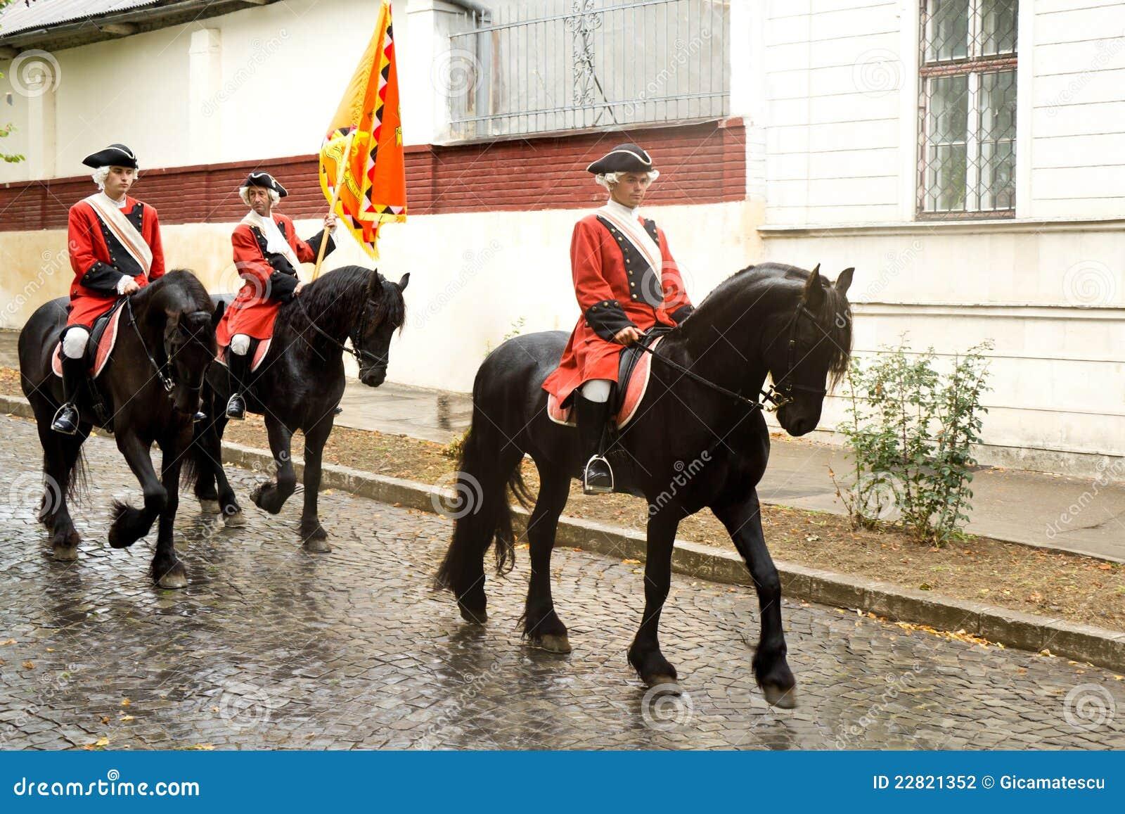 Protezioni di cavallo della fortezza Carolina alba