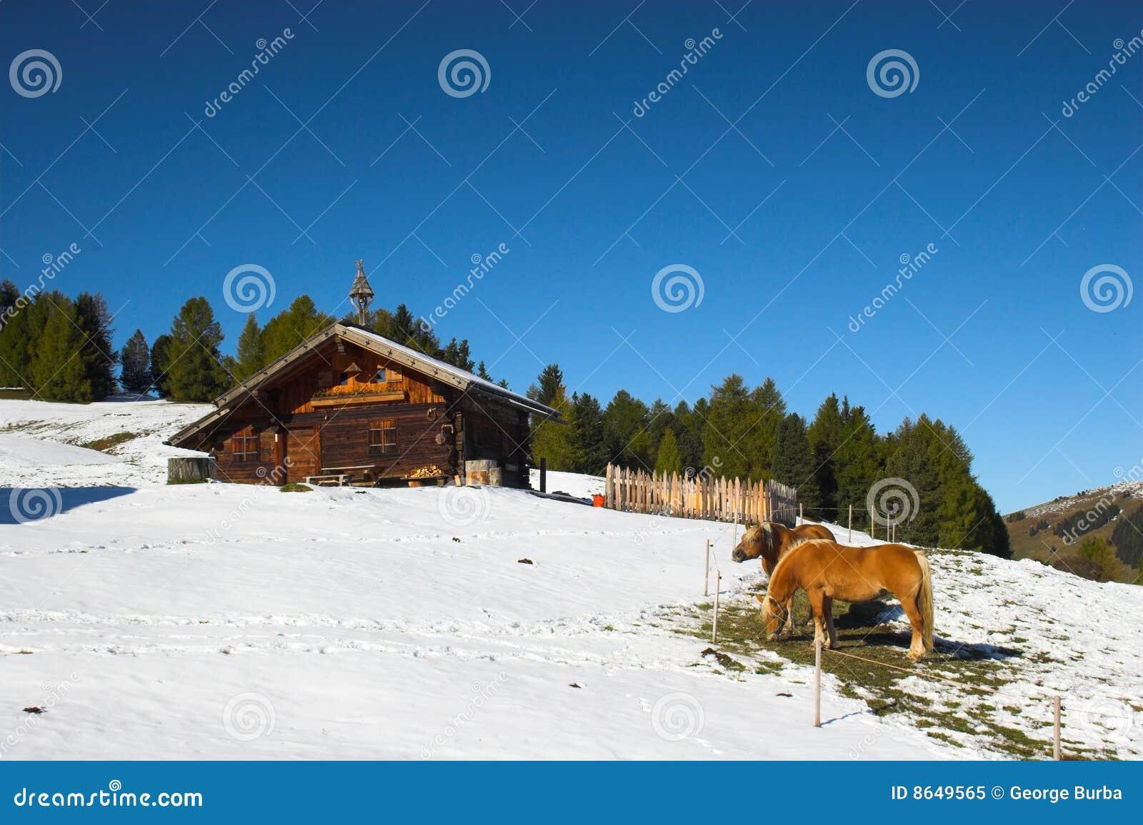 Protokollhaus in den Alpen