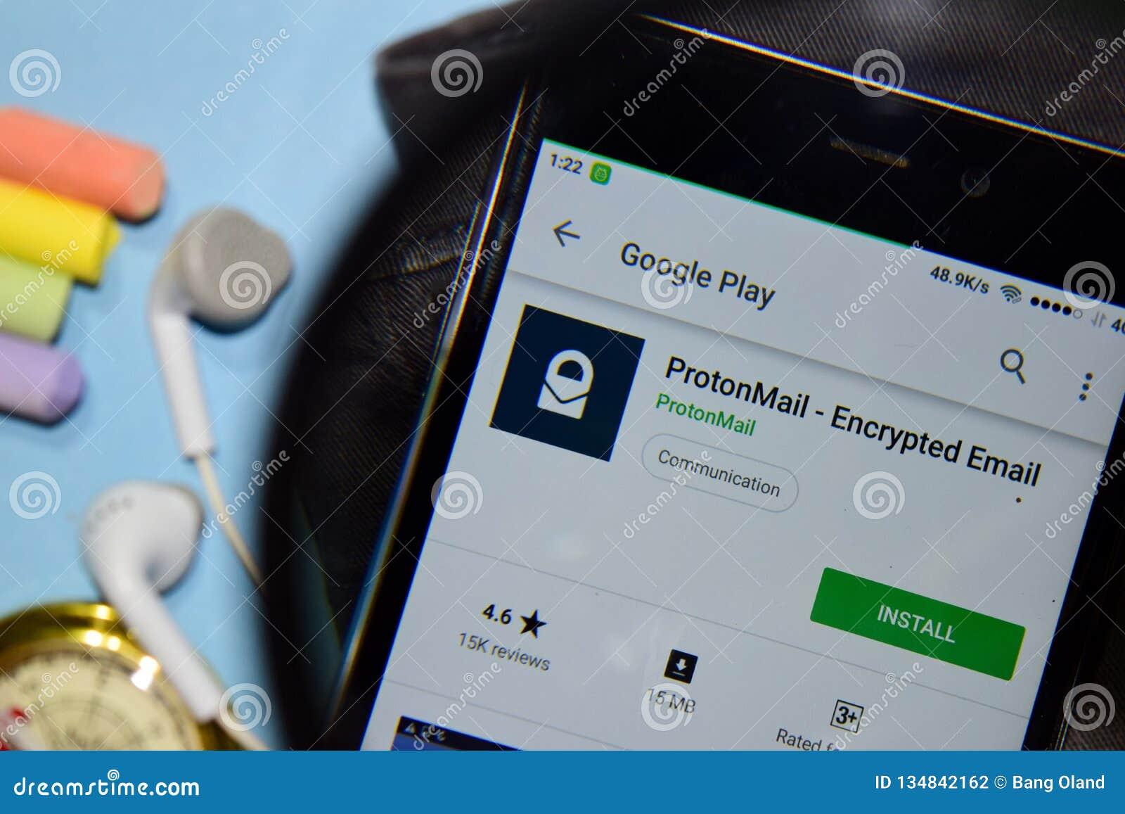 ProtonMail - Appli Chiffré De Réalisateur D'email Avec L