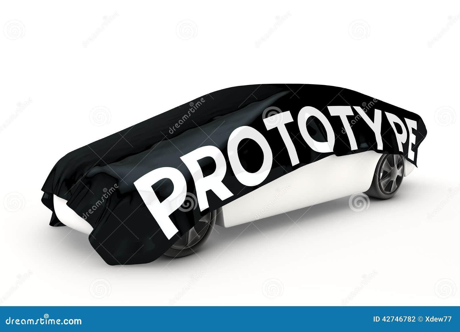 Prototypbilen täckas