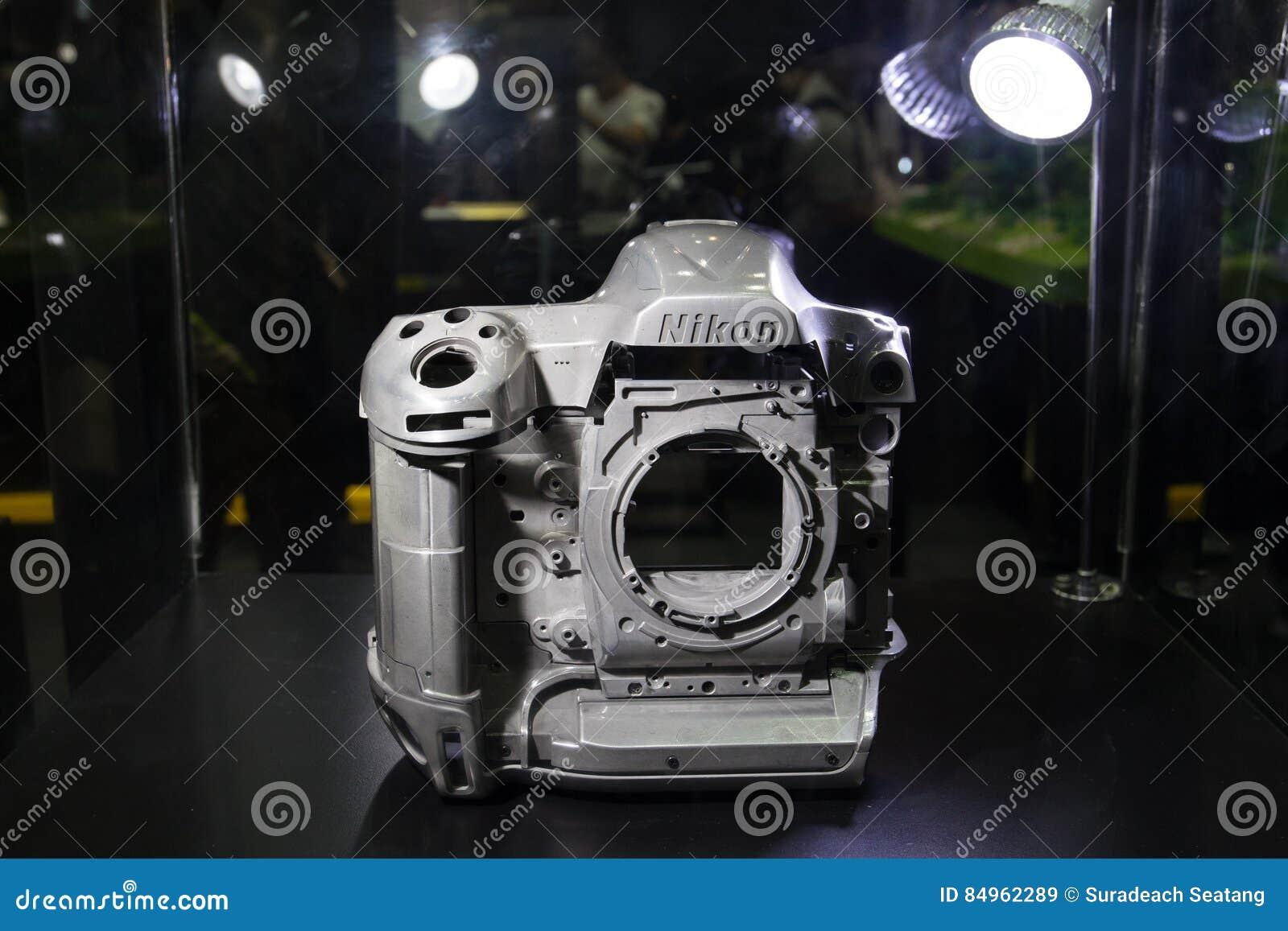 the prototype magnesium alloy of nikon camera editorial stock image