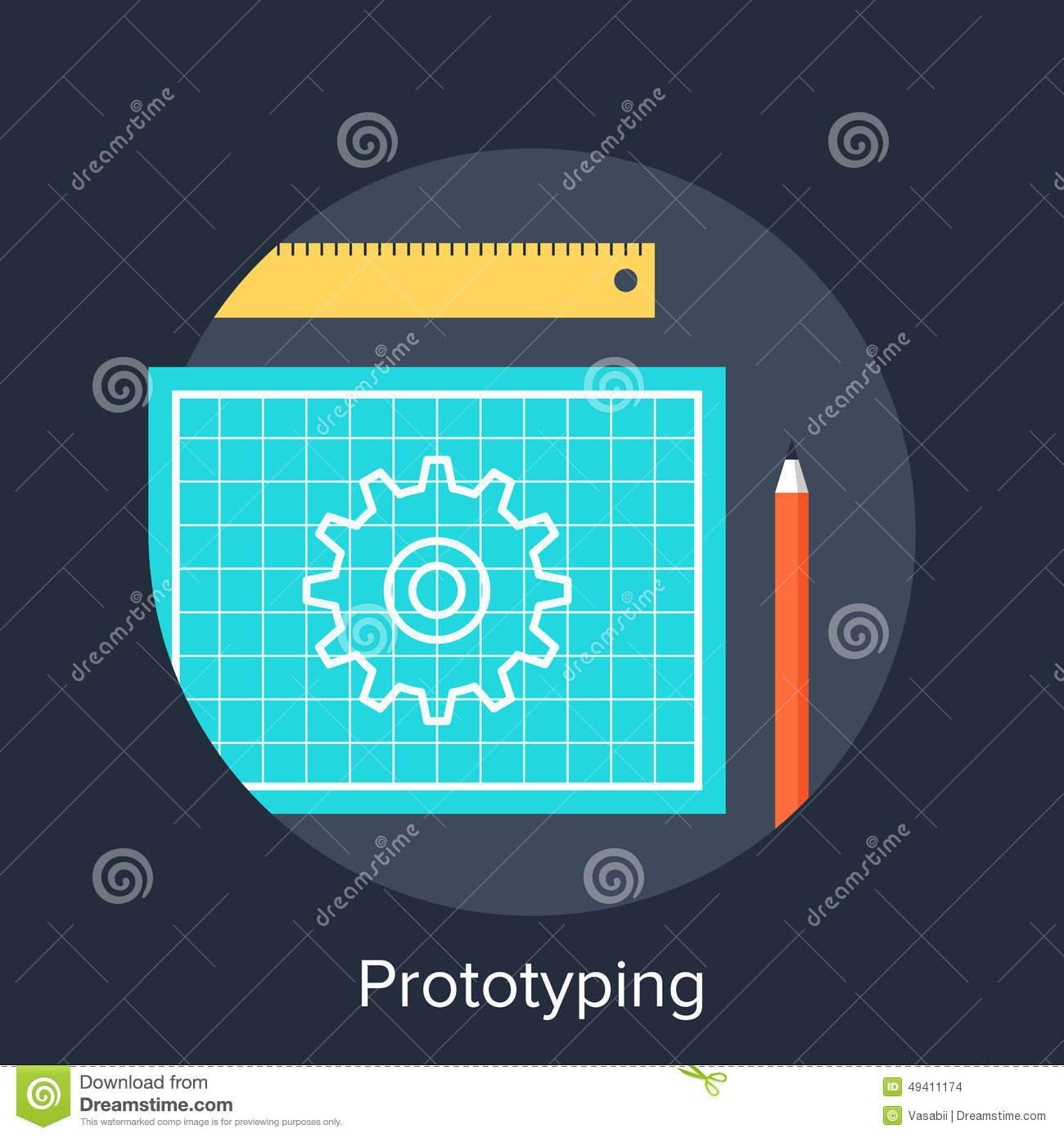 Download Prototyping vektor abbildung. Illustration von instrument - 49411174