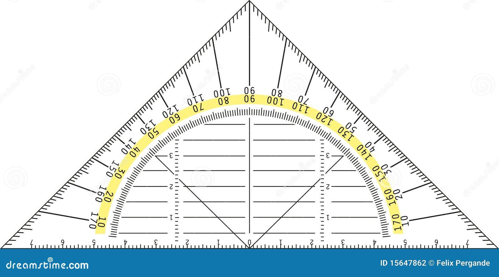 protractor stock vector image of measurement centimeter 15647862. Black Bedroom Furniture Sets. Home Design Ideas