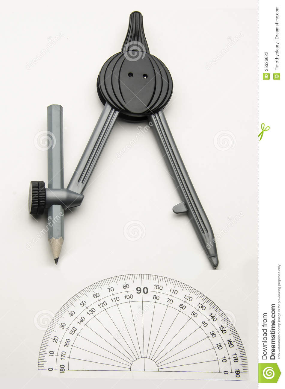 Protractor And Compass Stock Photography Image 35326622