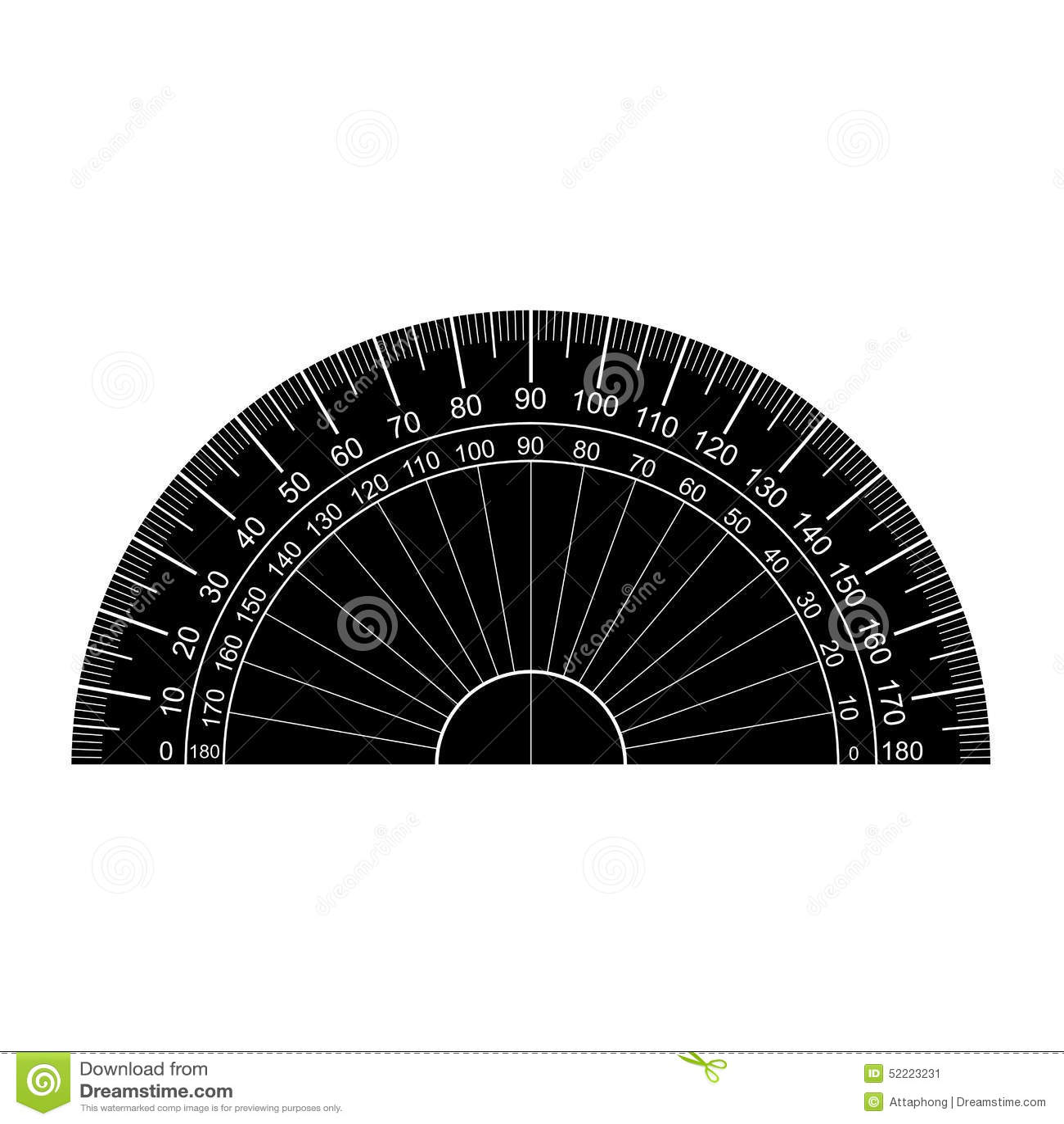 Protractor Silhouette Vector Stock Vector - Image: 52223231