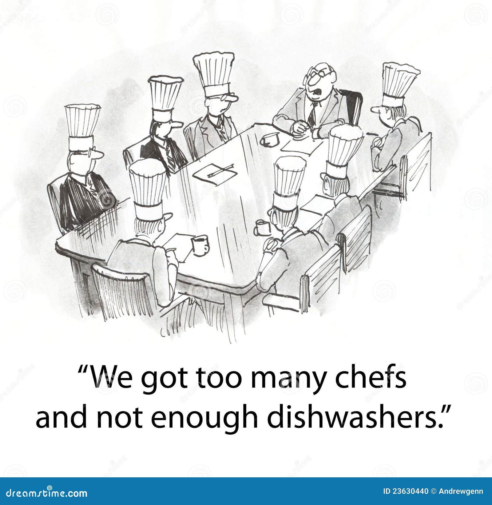 Protuberancia con los cocineros