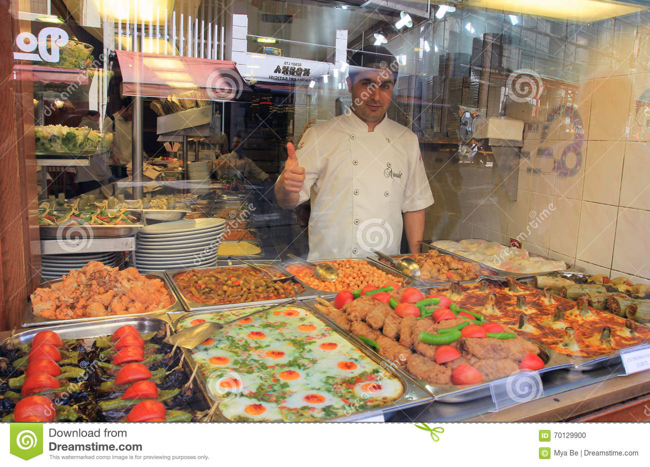 Proud cook of local foods, Istanbul, Turkey