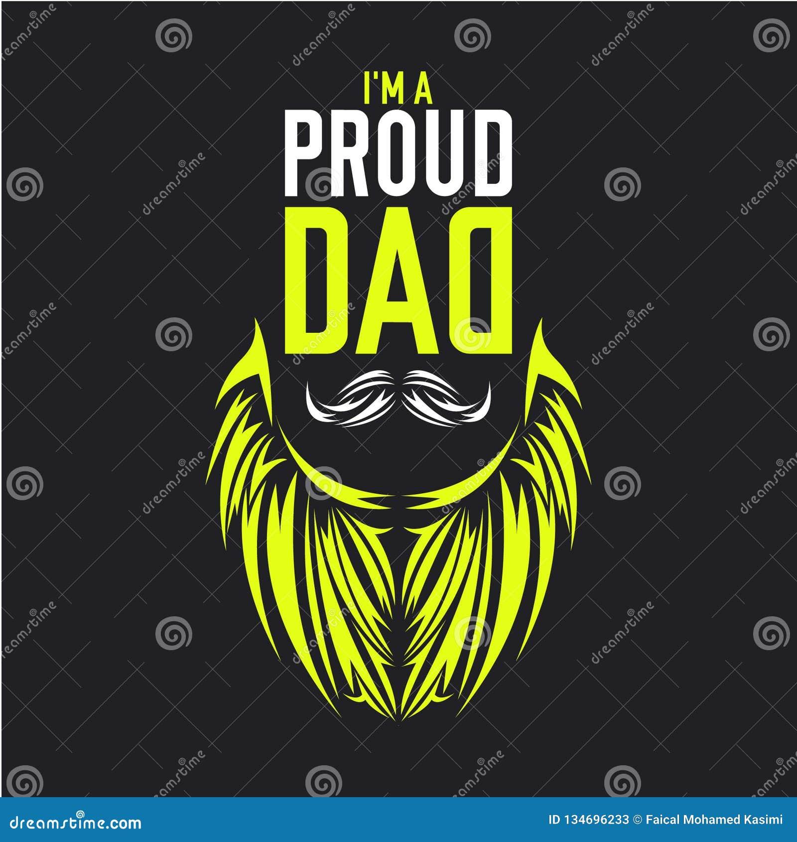 Am proud dad illustration shirt design