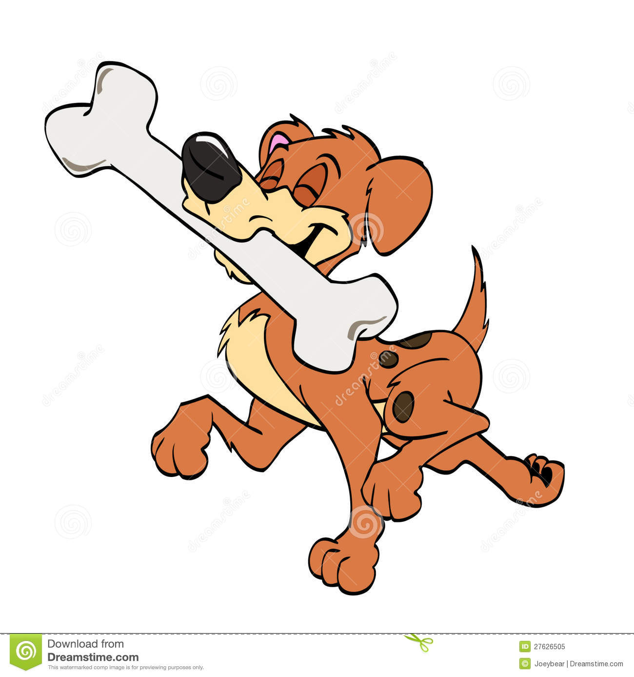 Proud Dog With Bone Royalty Free Stock Photo - Image: 27626505