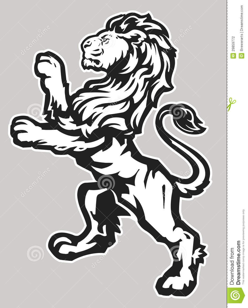 Standing Proud Lion Stock Photography - Image: 29859772