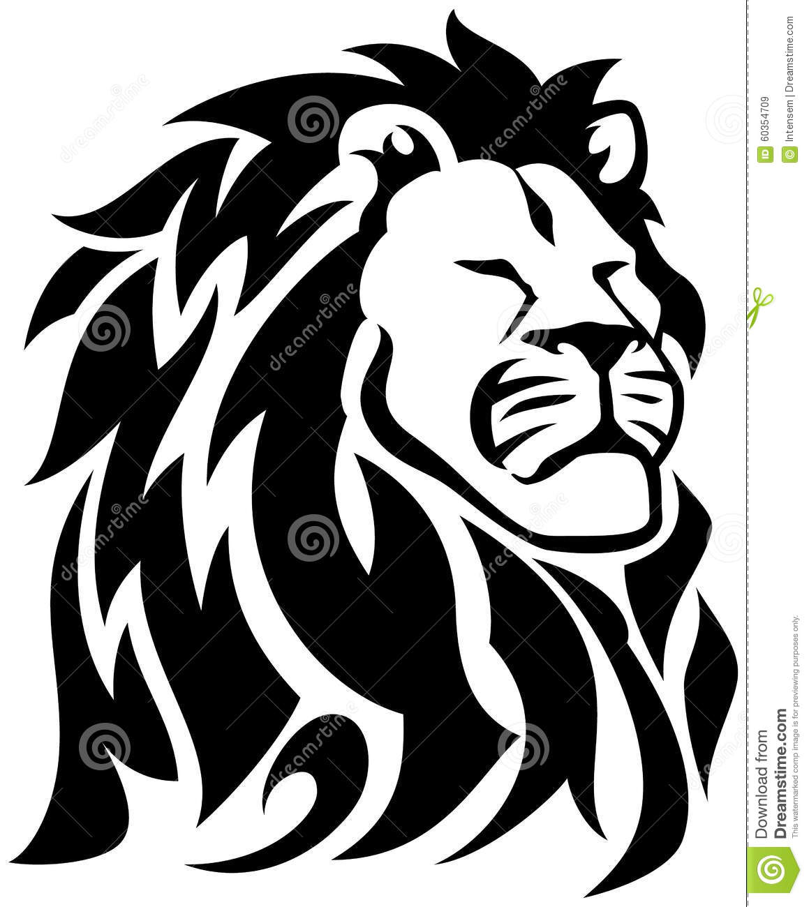 15 Magnificent Leo Tribal Tattoos: Proud Lion Tribal Tattoo Stock Vector