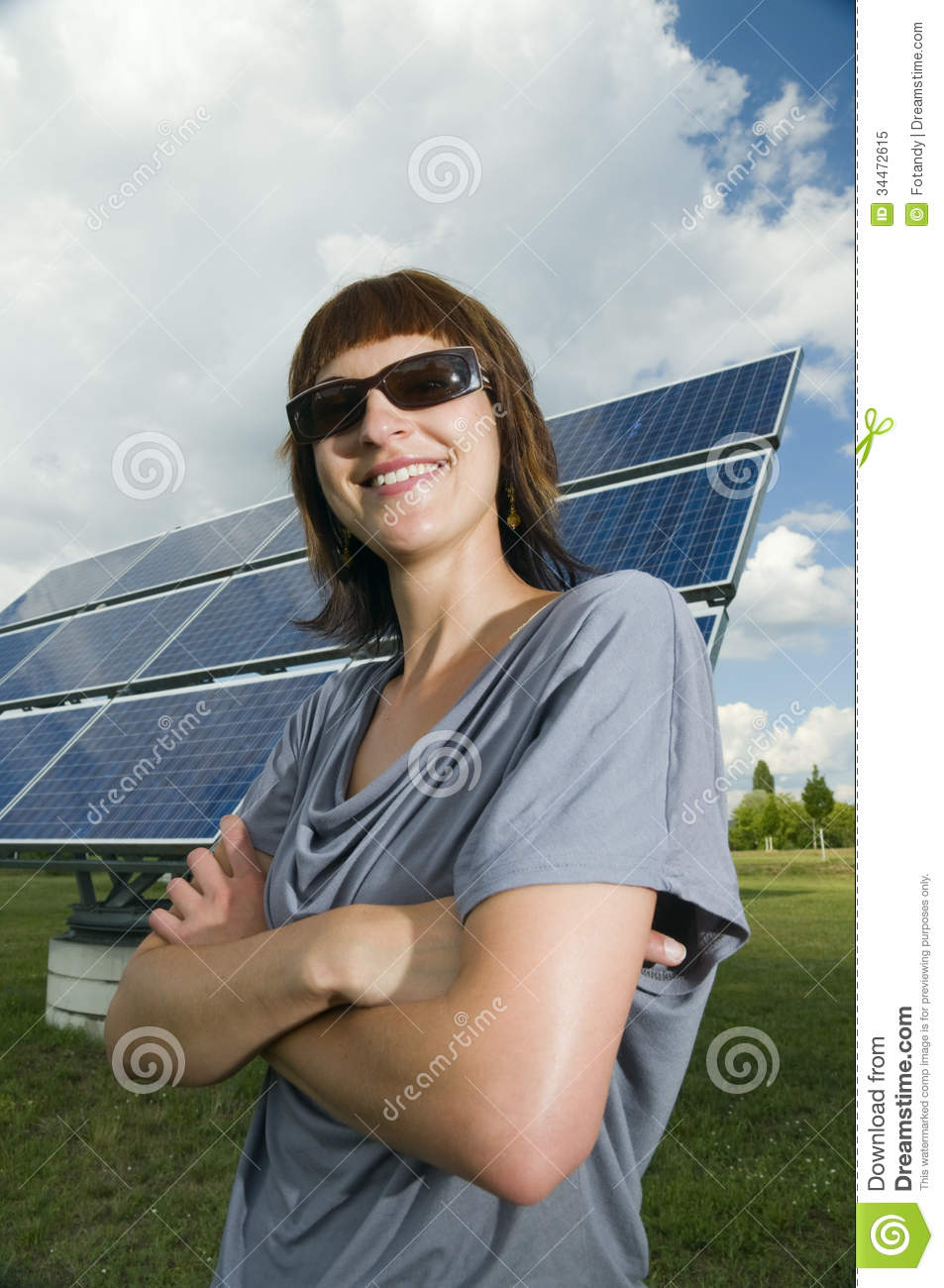 Proud Look At The Photovoltaics Royalty Free Stock Photo ...