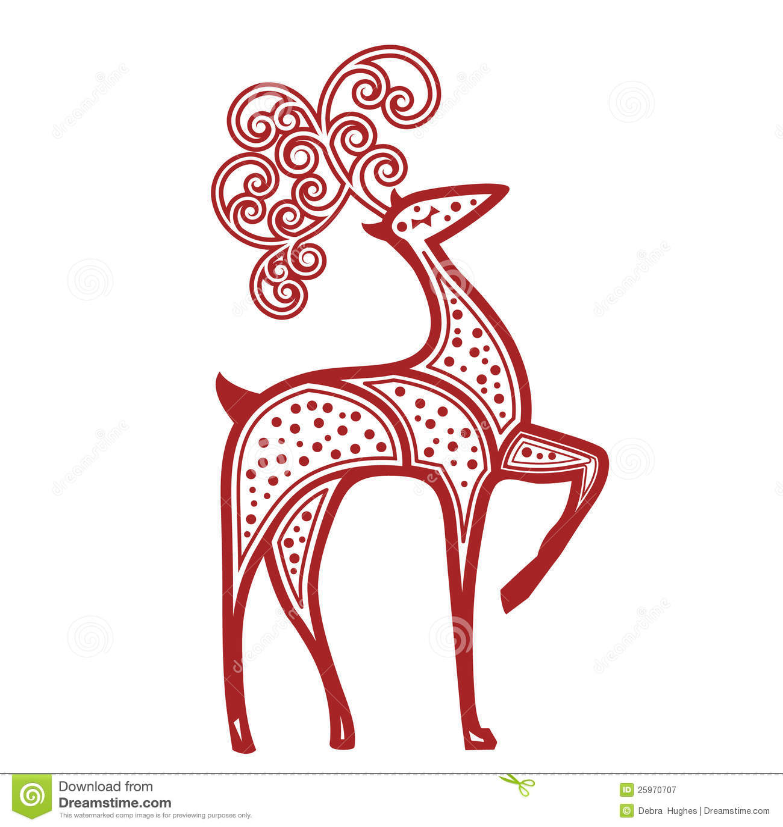 silhouette christmas ornament