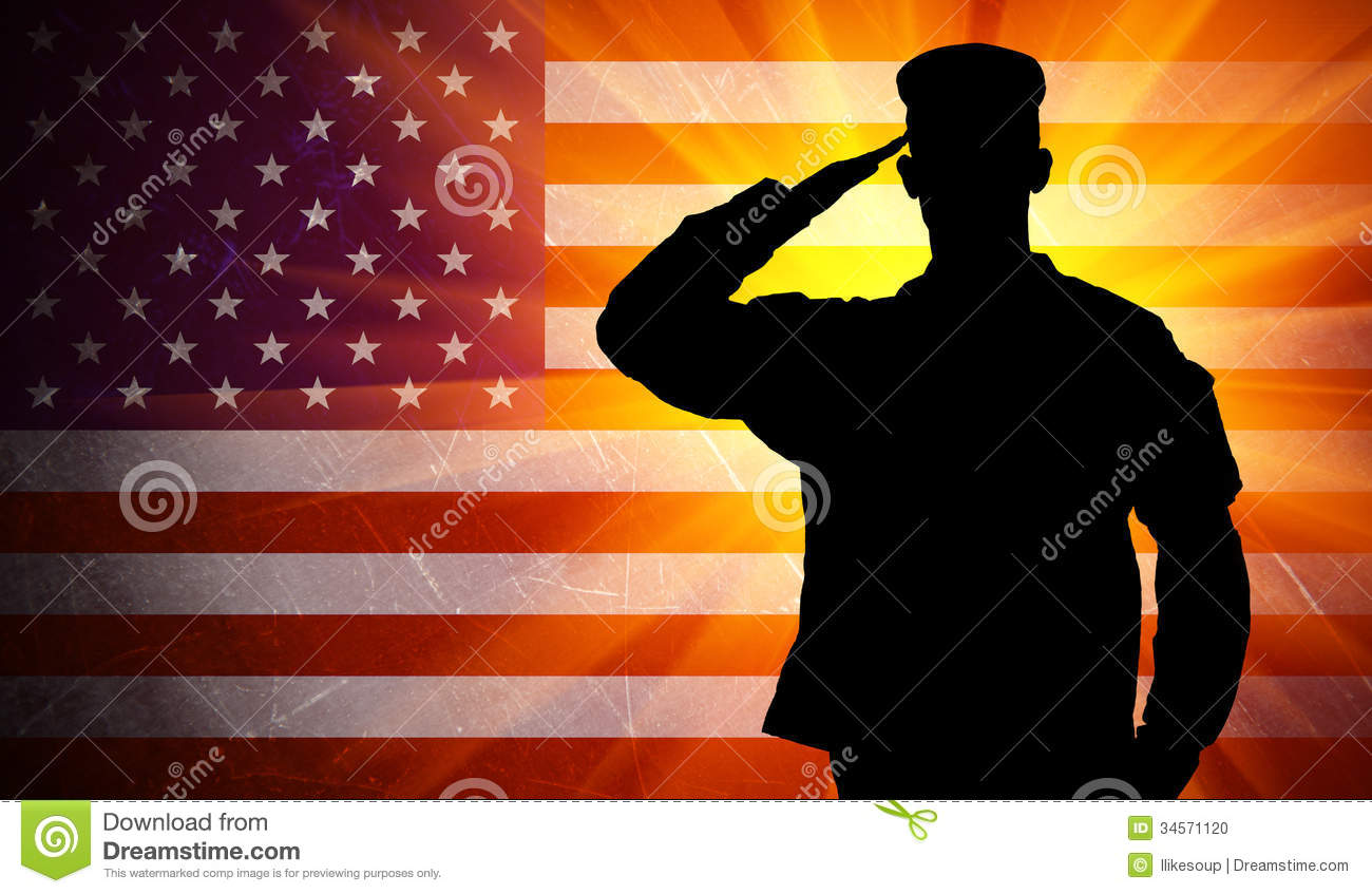 American Soldiers Saluting American Flag Images & Pictures - Becuo