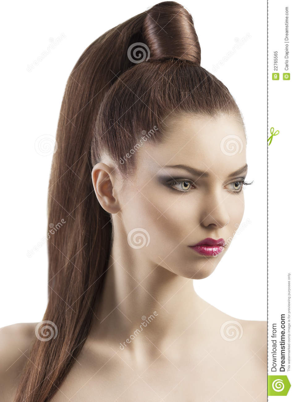 Proud And Young Woman, She Has Searius Stock Image - Image Of Lipstick, Elegance 22765565-3240