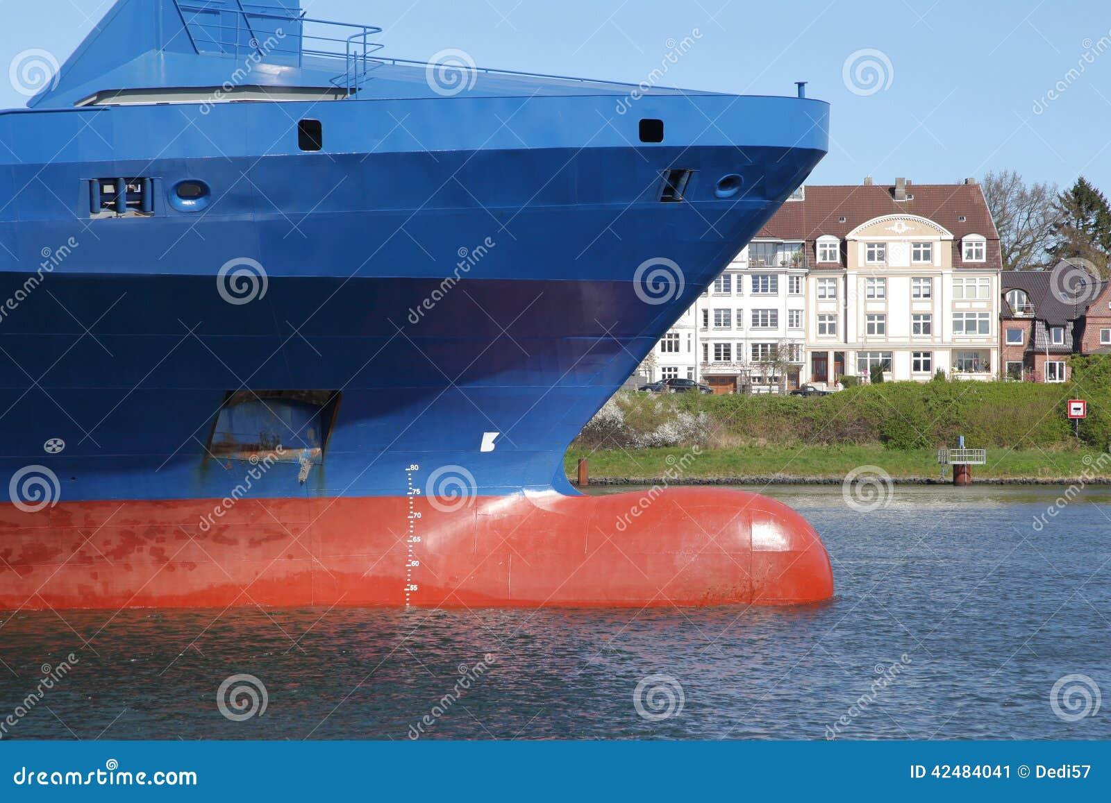 Proue d 39 un navire porte conteneurs photo stock image for Porte conteneur