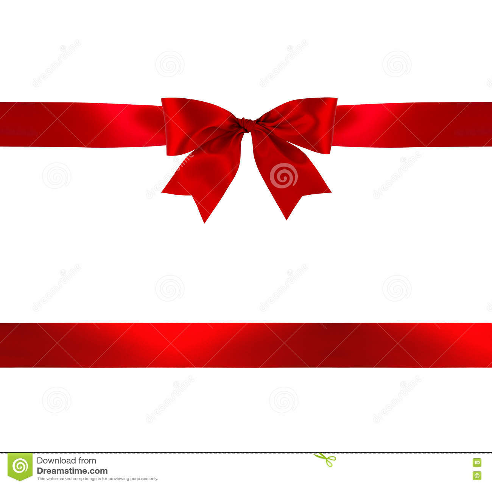 Proue et bande rouges de cadeau